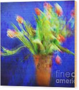 Tulips In The Blue Wood Print