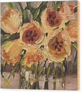 Tulips In Yellow By Alabama Artist Angela Sullivan Wood Print