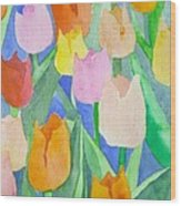 Tulips Multicolor Wood Print