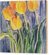 Tulips Wood Print by Sherry Harradence