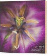 Tulips Star Wood Print