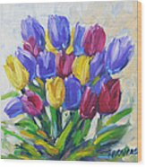 Tulips Time Love The Spring By Prankearts Wood Print