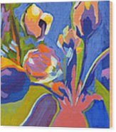 Tulip Variations  Wood Print