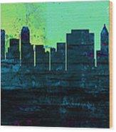 Tulsa City Skyline Wood Print