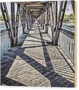 Tulsa Pedestrian Bridge Wood Print