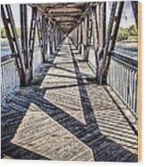 Tulsa Pedestrian Bridge Wood Print by Tamyra Ayles