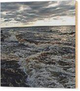 Tumultious Waters Wood Print