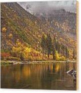 Tumwater Canyon Fall Serenity Wood Print