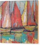 Tuna Boats Wood Print by Kip Decker