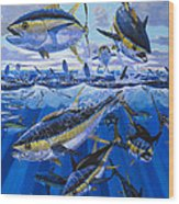 Tuna Rampage Off0018 Wood Print by Carey Chen