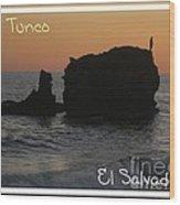 Tunco Card One Wood Print