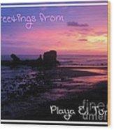 Tunco Card Purple Haze Wood Print
