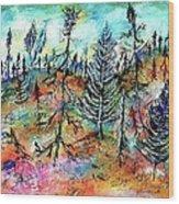Quebec Taiga Landscape Wood Print