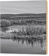Tundra Pond Reflections Wood Print