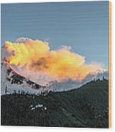 Tungurahua Blowing Off Steam Wood Print