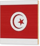 Tunisia Flag Wood Print