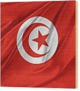 Tunisia Flag Wood Print
