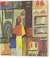 Tunisian Market Wood Print by August Macke