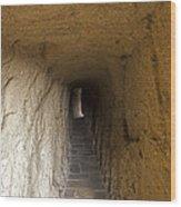 Tunnel At Meteora Monastery   #9763 Wood Print