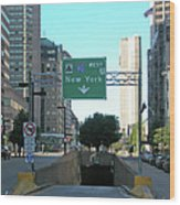 Tunnel To New York 2929 Wood Print