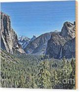 Tunnel View At Yosemite Wood Print