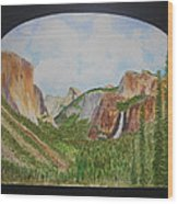 Tunnel View Wood Print
