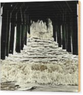 Tunnel Vision Wood Print by Karen Wiles