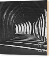 Tunnel With Shadows Wood Print