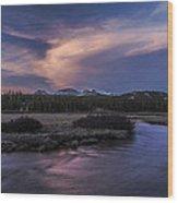 Tuolumne Meadows Sunset Wood Print