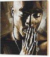 Tupac Shakur Artwork  Wood Print