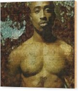 Tupac Shakur - Tribute Wood Print