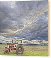 Turbo Tractor Country Evening Skies Wood Print by James BO  Insogna