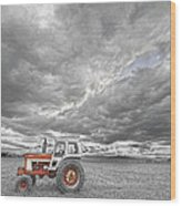 Turbo Tractor Superman Country Evening Skies Wood Print