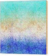 Turbulence Ocean Storm At Sunset Wood Print