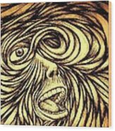 Turbulence Of Life Wood Print