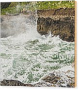 Turbulent Devils Churn - Oregon Coast Wood Print