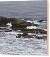 Waves Crashing Into La Jolla Shores Wood Print