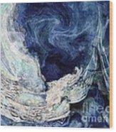 Turbulent Sea Wood Print