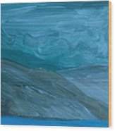 Turbulent Skies And A Glacier  Wood Print