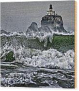 Turbulent Waters Wood Print