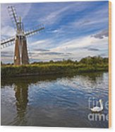 Turf Fen Drainage Mill Wood Print