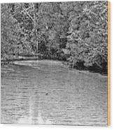 Turkey Creek Bw Wood Print by JC Findley
