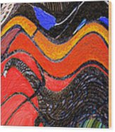 Turkey Dinosaur In Hill Country Wood Print