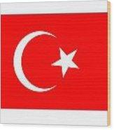 Turkey Flag Wood Print