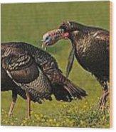 Turkey Gobble Wood Print