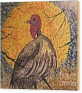 Turkey In The Moonlight Wood Print