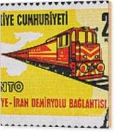 Turkey Iran Railroad Wood Print