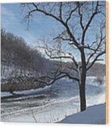 Turkey River Wood Print