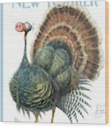 Turkey Wearing A False Pig Nose Wood Print