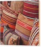 Turkish Cushions 03 Wood Print by Rick Piper Photography
